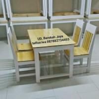set meja makan/meja caffe/meja kayu jati belanda/meja furniture