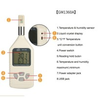 GM1360A Digital humidity & Temperature meter LCD display 0%~100%RH(-30