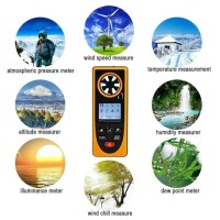Digital Anemometer GM8910 Wind Speed Measuring Tools MultifunctionalL