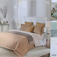king koil serat bambu premium set 200x200x40cm bedcover + sprei