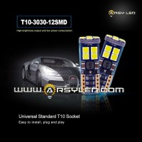 Lampu LED Senja Kota Sein Mobil T10 Canbus Pollux 12 Titik
