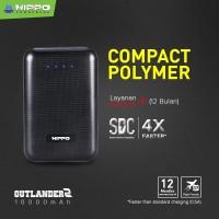 Hippo Power Bank Outlander 2 10000 MAH SDC Smart Detect Charging - Black