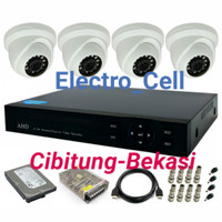 Paket CCTV Online TURBO HD 4ch Indoor + HDD 500GB Electro Cell