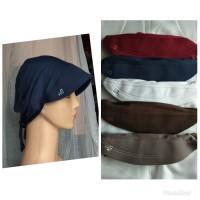 Daleman dalaman jilbab pet tali ciput topi robbani bahan kaos ori