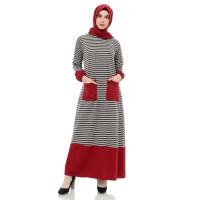 Mybamus Ghea Hand Rubber Dress Maroon M14809 R45S3
