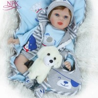 Boneka Reborn Blue Puppy Clothes / Boneka Bayi / Boneka NPK