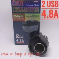 Dual USB Car Charger Dengan Socket Lighter 4.8A