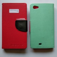 UME Leather Case Flipcover Flipcase Andromax U3