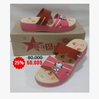 Sandal Anak Wedges Hello Kitty H3 cm S31-35 Fanta Pink