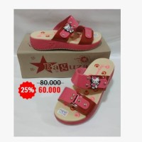 Sandal Anak wedges Hello Kitty H3cm Red Fanta Pink S31-35 HK2
