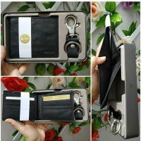 FOSSIL GIFT SET RFID WALLET ORI MURAH/SET DOMPET FOSSIL PRIA AUTHENTIC