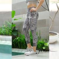 Celana Legging Fitness Zumba Yoga Gottex 7 8 Leopard