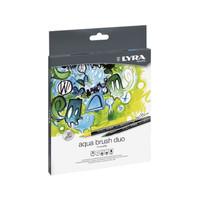 Lyra Aqua Brush Duo Dual Pen 12 Colors Set Kuas Mewarnai Coloring