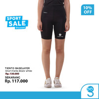 Baselayer Legging Olahraga Tiento Short Pants Black White Original