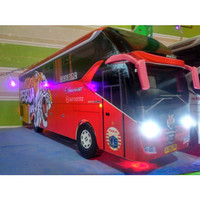 Miniatur bus bis Persija lampu New