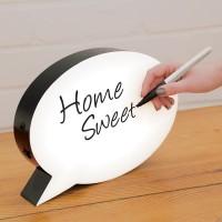 Garu |light box led neon box papan tulis lampu speech bubble lamp meja