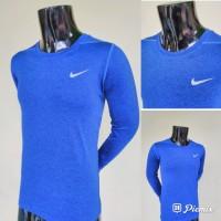 Kaos Baju Olahraga Lari Nike Lengan Panjang - 572 BIRU