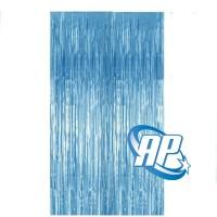 backdrop foil biru muda/ tirai foil/ foil fringe curtain/ tirai rumbai