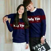 Baju Hoodie Couple Sweater Kaos Pasangan Kopel Kapel Kembar Only 11097