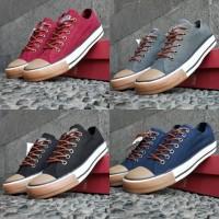 Converse Gum size 38 - 44 sepatu pria sneakers casual kets hitam navy