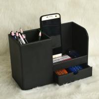 Pen Holder Tempat Pena & Alat Tulis Kantor - Desktop Stationery - Hitam