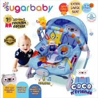 Sugar Baby New 10in1 Premium Rocker Extra Large Seat - Coco N Friends
