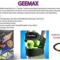 GEEMAX POWER KNEE Ukuran M - ALAT TERAPI LUTUT - FREE GELANG TOURMALIN