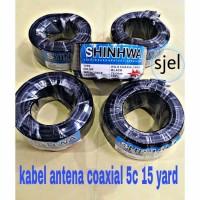 KABEL ANTENA COAXIAL 5C 15 YARD 75 OHM RG-6 COAXIAL CABLE SHINWA