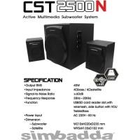 SIMBADDA CST2500N  Speaker Multimedia BLUETOOTH USB & FM RADIO