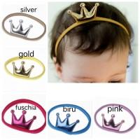 bandana nylon crown untuk bayi anak perempuan headband bando