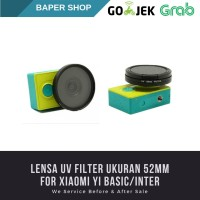 UV Filter Dilengkapi dengan Cap For Xiaomi Yi 52mm