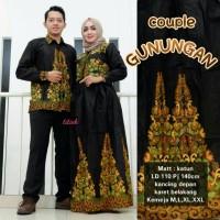 Gunungan couple batik longdress gamis batik kemeja batik pria
