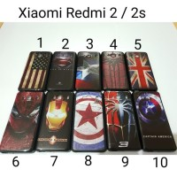 Case Hitam Superhero Xiaomi Redmi 2 / Soft Case Xiaomi Redmi 2s