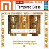 Xiaomi redmi note 4 note4x snapdragon armor case kayu + tempered glass