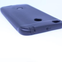 SOFTCASE BLACKMATTE REDMI 4X WITH DUST AND RUST PROTECTION PLUG