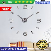 Jam Dinding Raksasa Besar DIY\Giant Wall Clock 80 - 130cm - SILVERR
