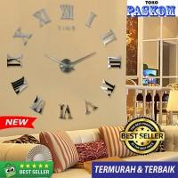 Jam Dinding Raksasa Besar DIY\Giant Wall Clock 80 - 130cm - SILVER