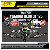 Decal Sticker Motor Yamaha Xeon Gt 125 Fullbody VR46 HITAM