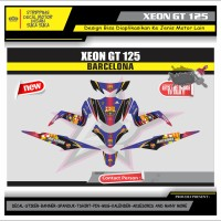 Decal Sticker Motor Yamaha Xeon Gt 125 Fullbody BARCELONA