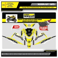 Decal Sticker Motor Yamaha Xeon Gt 125 Fullbody VR 46 KUNING