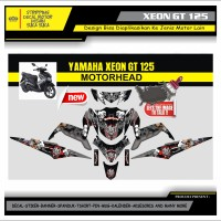 Decal Sticker Motor Yamaha Xeon Gt 125 Fullbody MOTORHEAD 1