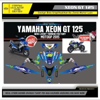 Decal Sticker Motor Yamaha Xeon Gt 125 Fullbody MOVISTAR