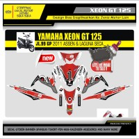 Decal Sticker Motor Yamaha Xeon Gt 125 Fullbody JL MERAH