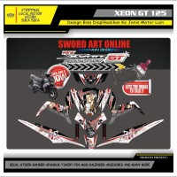 Decal Sticker Motor Yamaha Xeon Gt 125 Fullbody ANIME SAO