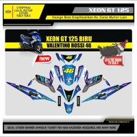 Decal Sticker Motor Yamaha Xeon Gt 125 Fullbody VR 46 BIRU