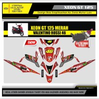 Decal Sticker Motor Yamaha Xeon Gt 125 Fullbody VR46 MERAH
