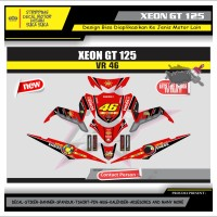 Decal Sticker Motor Yamaha Xeon Gt 125 Fullbody MERAH 1