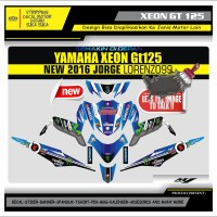 Decal Sticker Motor Yamaha Xeon Gt 125 Fullbody 99 BIRU