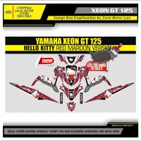 Decal Sticker Motor Yamaha Xeon Gt 125 Fullbody HELLO KITTY MERAH