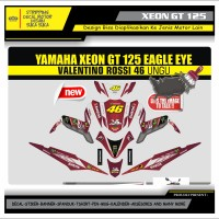 Decal Sticker Motor Yamaha Xeon Gt 125 Fullbody MERAH MARUN